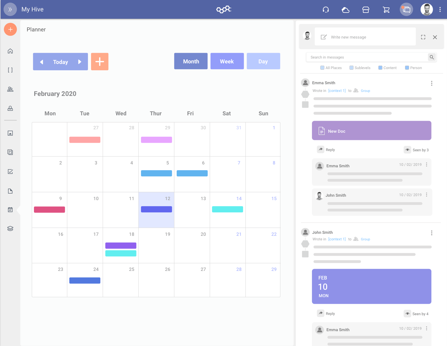Organise your activities and tasks in the planner