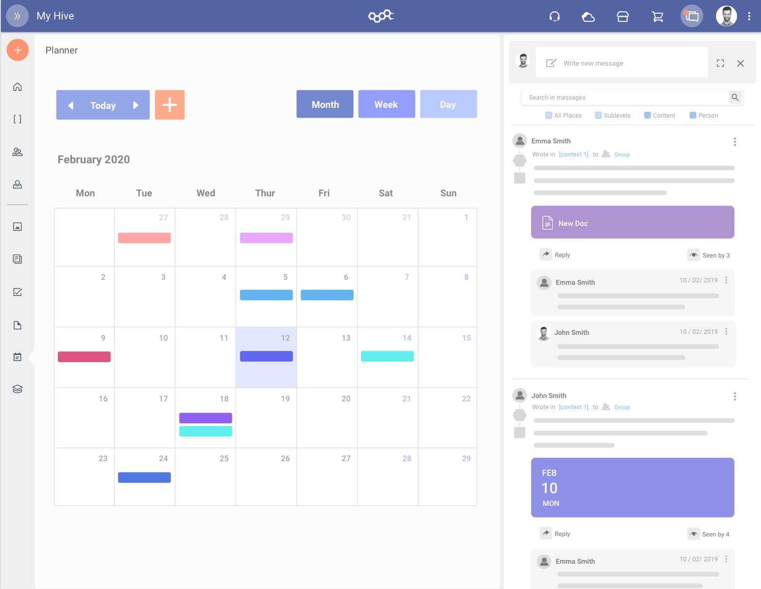 Rappresentazione grafica della organizzazione delle tue attività nel planner