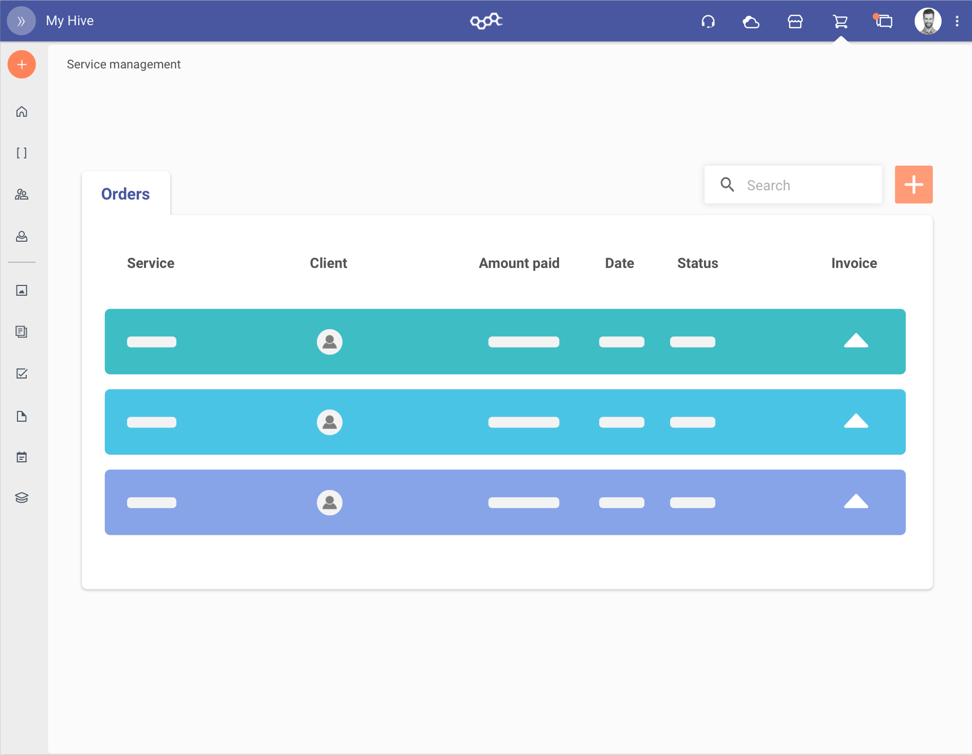 Rappresentazione grafica per la gestione degli ordini in modo semplice con il service management di brm